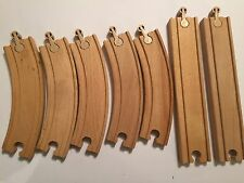 7 WOODEN WOOD TOY TRAIN TRACK BUNDLE DIRECTION CHANGERS + brio thomas ELC IKEA