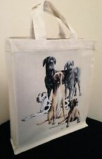 Great Dane Natural Cotton Small Fun Party Bag Tote with Gusset Useful Gift