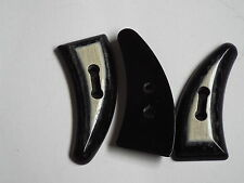 2pc 70mm Black White mock horn toggle buttons ideal for Duffle Trench coats 2306