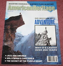 AMERICAN HERITAGE - JANUARY, 2001 - OUR OBSESSION WITH ADVENTURE