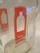 Vintage 2 Quart Milk Bottle Miller Milkhouse Indiana Deposit Bottle
