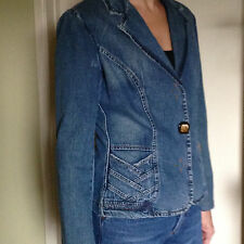 D&G DOLCE & GABBANA women's blue denim jean jacket, Size M, Authentic