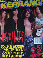 KERRANG 368 - LOVE/HATE - UFO - FISH - SKID ROW