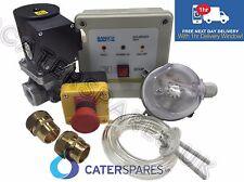 """1"""" GAS COMMERCIALE Sistema Di Interblocco KIT & GAS ELETTROVALVOLA 28mm ADATTATORI Inc"""
