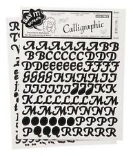 BLACK ALPHABET Stickers Letter Calligraphy Scrapbooking Card Making Kids Crafts