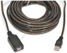 30ft Active/Amplified USB2.0 Extension Camera/Webcam/Printer Cable Male-Female$S