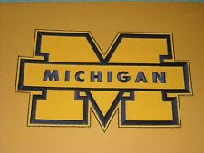 "AWESOME NCAA MICHIGAN WOLVERINES IRON ON JACKET PATCH  9"" X 5 1/2"""