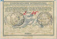 54328 coupon reponse-Roma modello: FRANCIA - 2.25 scritto a mano oltre 3 FRANCHI