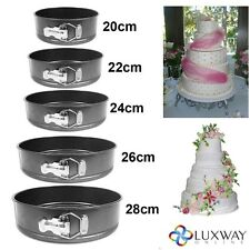 NEW 5PC NON STICK SPRINGFORM CAKE PAN BAKING BAKE ROUND TRAY TINS WEDDING PARTY