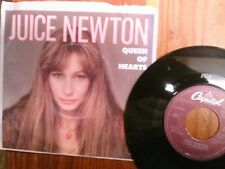 "JUICE NEWTON 45 RPM ""Queen of Hearts"" & ""River of Life"" w/ pic sleeve VG cond"