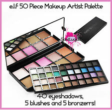 E.L.F ELF 50 PC MAKEUP ARTIST PALETTE COLLECTION KIT EYESHADOW BLUSHER BRONZER