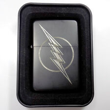 DC The Flash Black Engraved Cigarette Metal Lighter Biker Gift LEN-0109