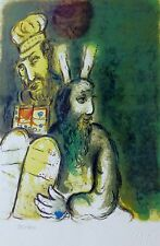 MARC CHAGALL EXODUS Suite God directs Moses SIGNED HAND NUMBERED 923/1800 LITHO
