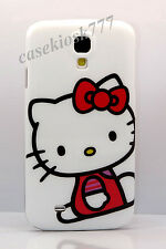 for Samsung galaxy S4 kitty kitten phone case cover white red bow cute i9500 SIV