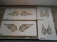 Airbrush Temporary Tattoo Stencil Set Large Angel Wings New Island Tribal!