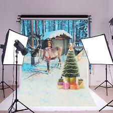 35''x23'' Christmas Reindeer Photography Backdrop Studio Photo Prop Background