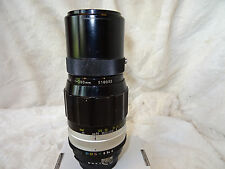 Nikkor 200mm Q f/4 AI Converted MF Telephoto Lens. Collector's Classic. nikon