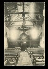 Sussex PRESTON Old Church Interior damage after 1906 fire PPC used 1906
