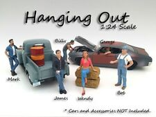 Hanging Out - ALL 6 FIGURES - 1/24-G Scale figure/figurine - American Diorama