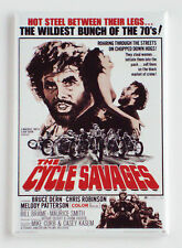 Cycle Savages FRIDGE MAGNET (2.5 x 3.5 inches) movie poster motorcycle
