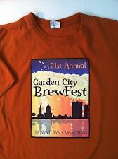 GARDEN CITY BREWFEST Tee T-SHIRT SIZE LARGE Short sleeve MISSOULA MONTANA BEER