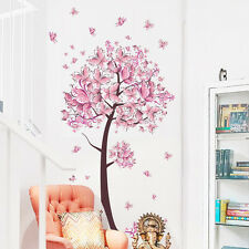 pink Flower Butterfly love heart tree Wall Sticker Decal Sticker Art Home Decor