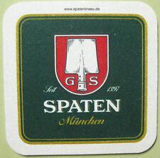 SPATEN MUNCHEN Beer COASTER, Mat, Munich, GERMANY Since 1397