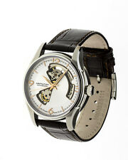 HAMILTON H32565555 Viewmatic Skeleton AMERICAN CLASSIC On BROWN LEATHER Strap...