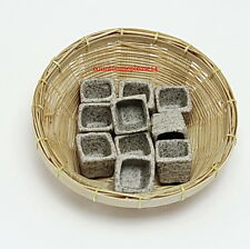 20 SQUARE  POTS MINIATURES NICE  HANDCRAFTED GREY CERAMIC DECOR COLLECTIBLE 1:12