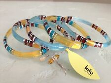 ORNA LALO Treasures Handcrafted Set 5 Bangle BRACELETS Poetry of Earth 4 BN2505