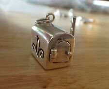 Sterling Silver 16x16x9mm Movable 6 gram Mail Mailbox Charm