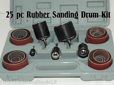 """25PC Rubber Sanding DRUM Kit 1/4"""" Shank fit most Drills."""