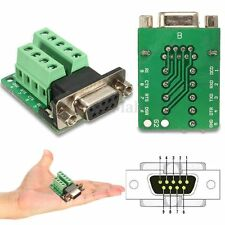 DB9 9-pin Female Adapter RS-232 Serial Port Interface Breakout Board Connector
