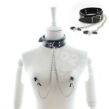 Bondage chain Collar cuff Clamps Kinky Slave Rrestraints Adult FETISH BDSM Buckl