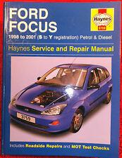 Haynes Workshop Manual Ford Focus Petrol & Diesel from 1998 to 2001.