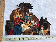 Crafting Quilting Iron on Fabric Applique Large Christmas Religious