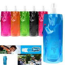 Foldable Outdoor Sport Folding Plastic Bottle Bag Chic Water Cups Collapsible
