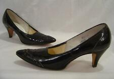 VINTAGE 50s J MILLER MILLIES BLACK PATENT LEATHER POINTY TOE PUMPS HEELS IN BOX