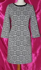 PRINCIPLES by BEN de LISI cotton mix elasticated ladies dress size 16