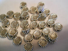 100 SILVER PLATED MMETAL 6mm FLOWER SPACER BEADS BARS BRACELET CHARMS BRACELET