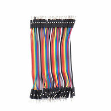 40pcs 10cm Male To Male Wire Ribbon Cable Dupont For Breadboard Arduino Jumper