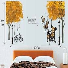 Buy1 Get 1 Free Wall Stickers Wall Decals Orange Tree Cycle  DF5073