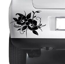 3x HIBISCUS Floral Decorative Car Bumper  Window Wall Laptop VINYL DECAL STICKER