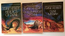 VTG set of 3 DUNE Series Paperbacks Frank Herbert SCI-FI Berkley 1980's Editions