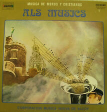 ALS MUSICS-MUSICA DE MOROS Y CRISTIANOS LP VINILO 1982 SPAIN GOOD COVER-
