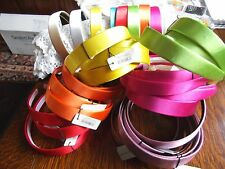 Job Lot 47 x 2.5cm wide satin covered Hair bands Assorted colours great lot