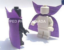 x2 PURPLE VAMPIRE cape Custom clothing cloak accessory Lego minifigs Frozen Anna