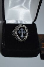 Alchemy Gothic Cross Pewter Ring US size 9 - 9.5 Created 2000