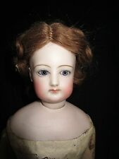 "Antique 18"" FG  French Fashion doll with wooden body"