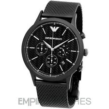 *NEW* MENS EMPORIO ARMANI RENATO BLACK MESH WATCH - AR2498 - RRP £349.00